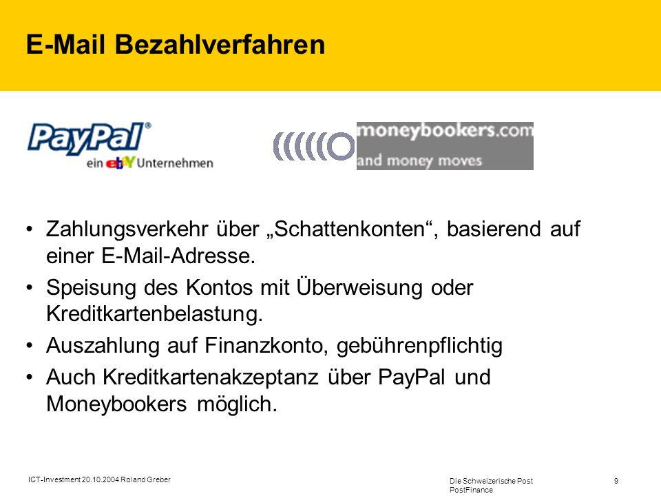 E-Mail Bezahlverfahren
