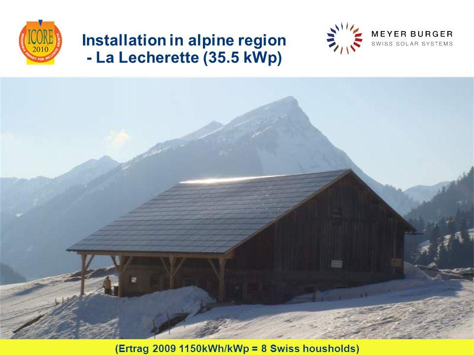 Installation in alpine region - La Lecherette (35.5 kWp)