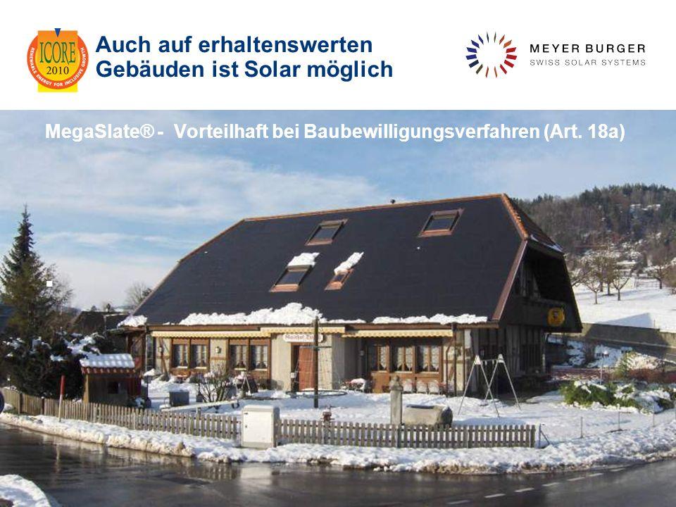 Auch auf erhaltenswerten Gebäuden ist Solar möglich