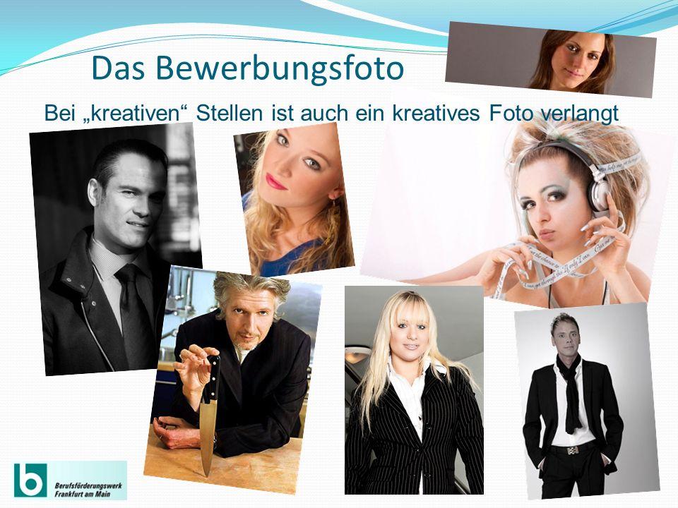 """Das Bewerbungsfoto Bei """"kreativen Stellen ist auch ein kreatives Foto verlangt"""