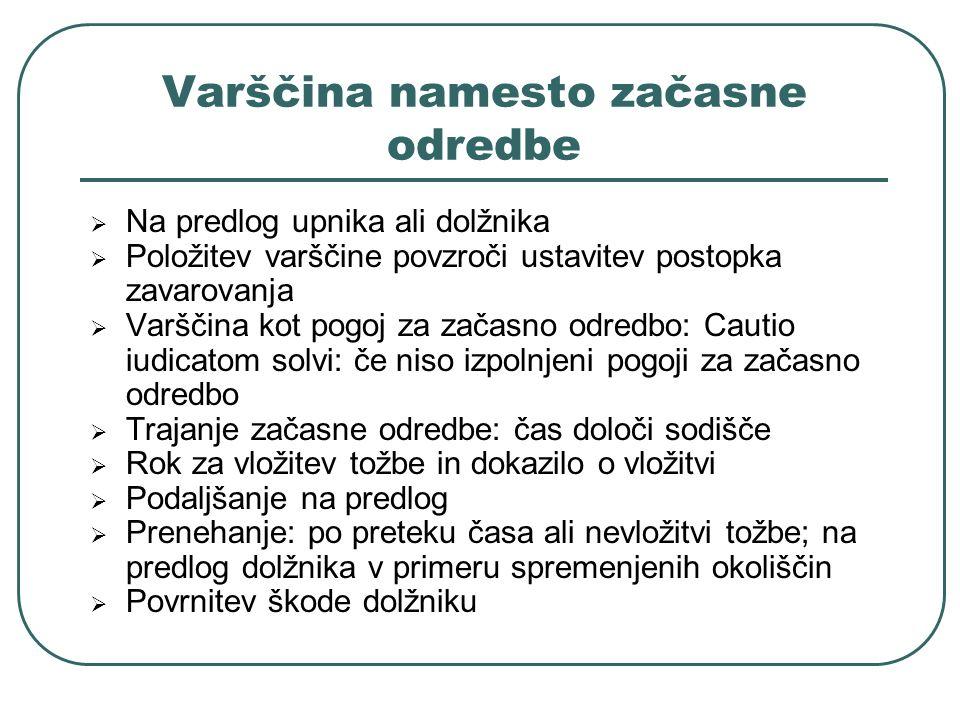 Varščina namesto začasne odredbe
