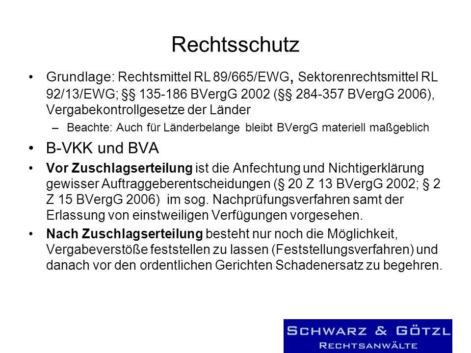 Rechtsschutz B-VKK und BVA