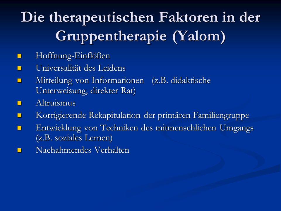 Die therapeutischen Faktoren in der Gruppentherapie (Yalom)