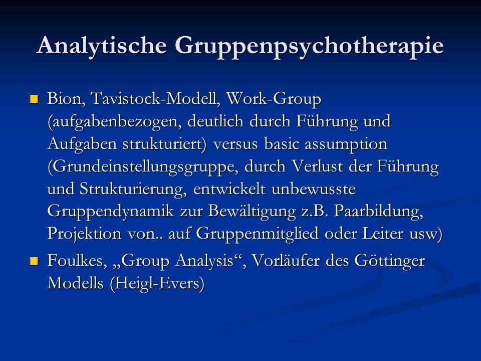 Analytische Gruppenpsychotherapie