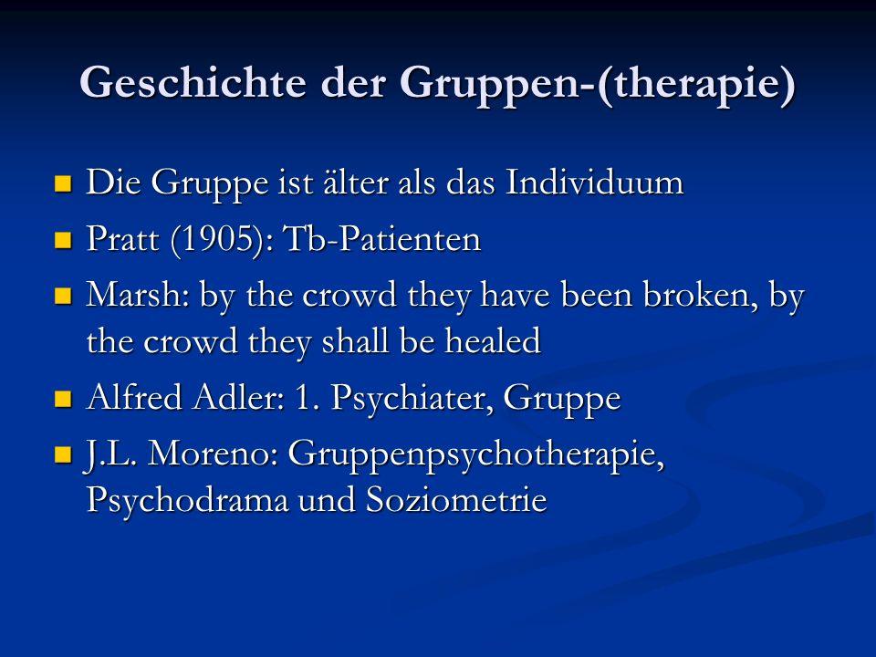 Geschichte der Gruppen-(therapie)