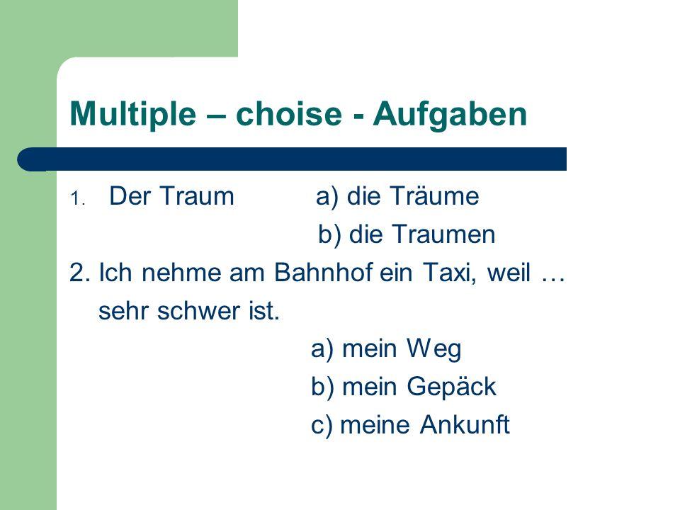 Multiple – choise - Aufgaben