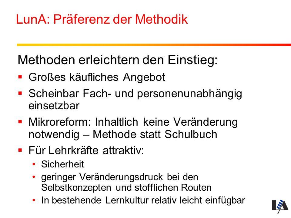 LunA: Präferenz der Methodik