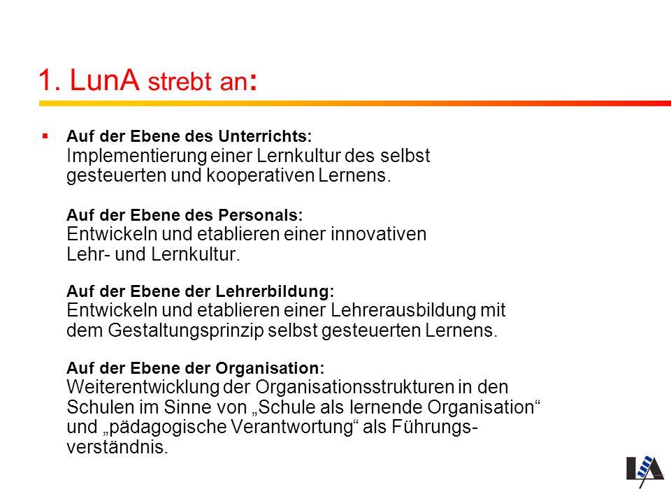 1. LunA strebt an: