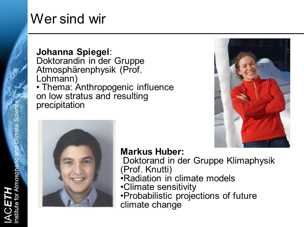 Wer sind wir Johanna Spiegel: