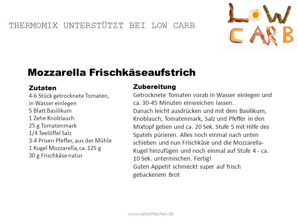 Mozzarella Frischkäseaufstrich