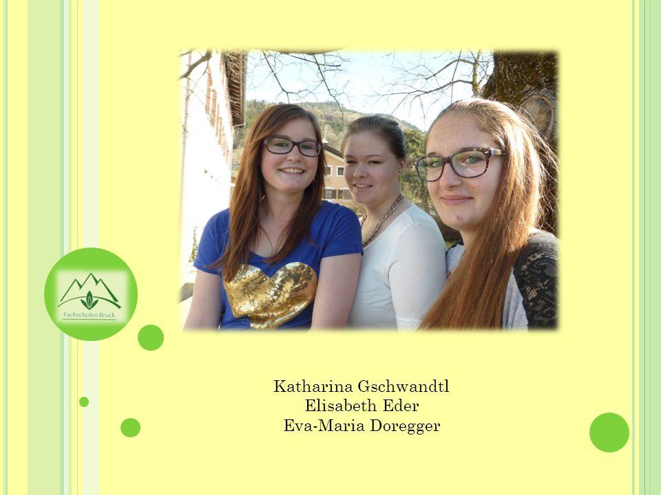 Katharina Gschwandtl Elisabeth Eder Eva-Maria Doregger