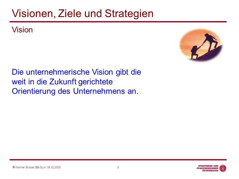 Vision Die unternehmerische Vision gibt die weit in die Zukunft gerichtete Orientierung des Unternehmens an.