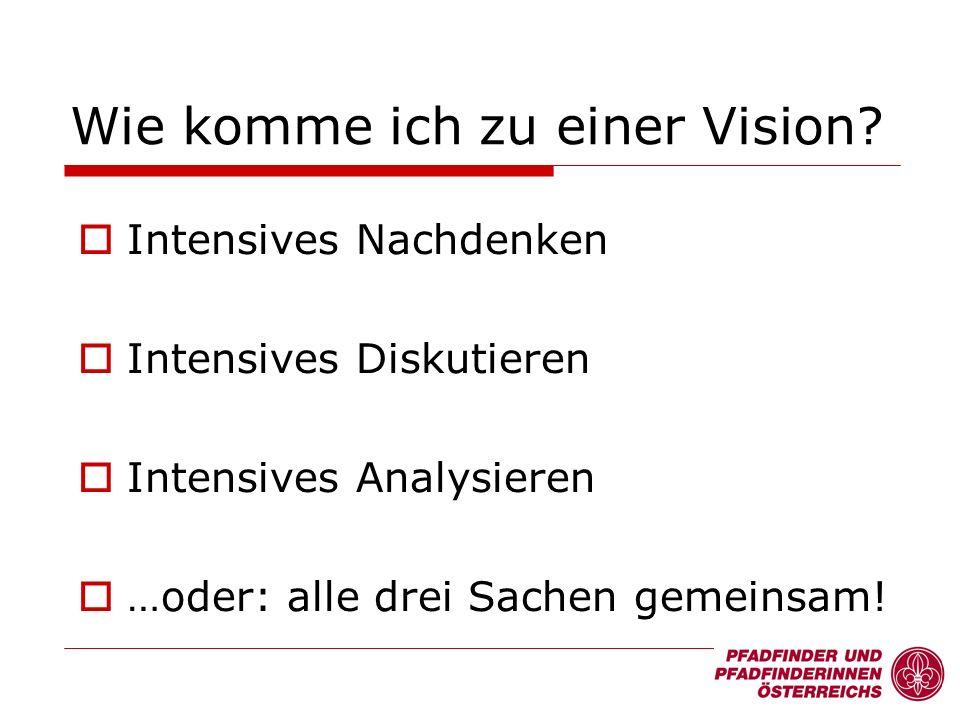 Wie komme ich zu einer Vision