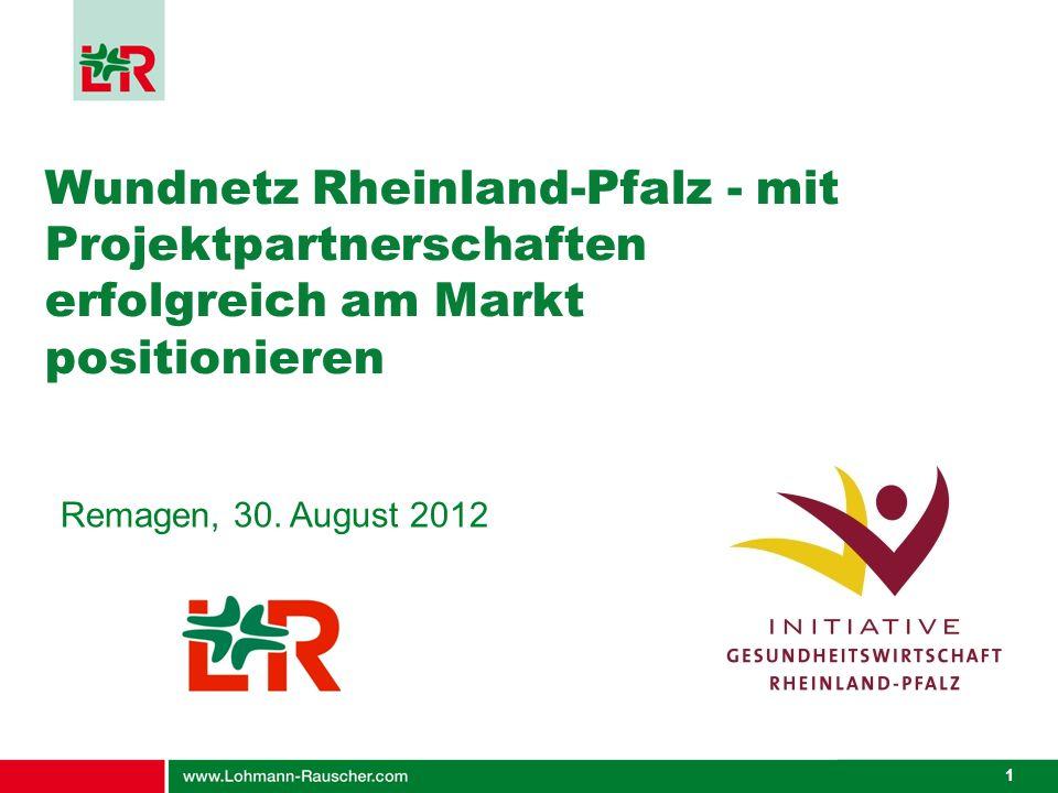 Wundnetz Rheinland-Pfalz - mit Projektpartnerschaften erfolgreich am Markt positionieren
