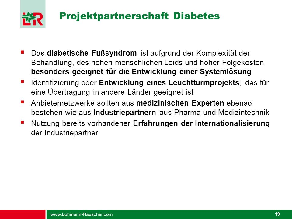 Projektpartnerschaft Diabetes