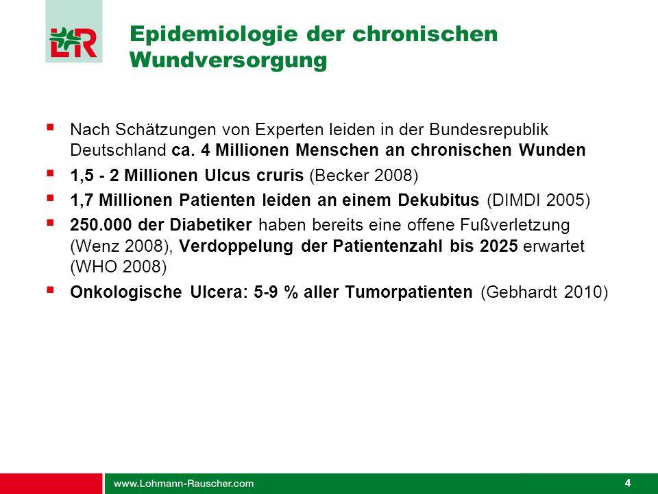 Epidemiologie der chronischen Wundversorgung