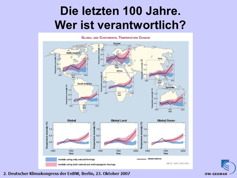 Die letzten 100 Jahre. Wer ist verantwortlich