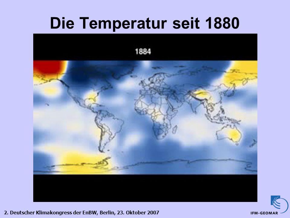 Die Temperatur seit 1880