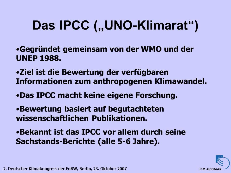 """Das IPCC (""""UNO-Klimarat )"""