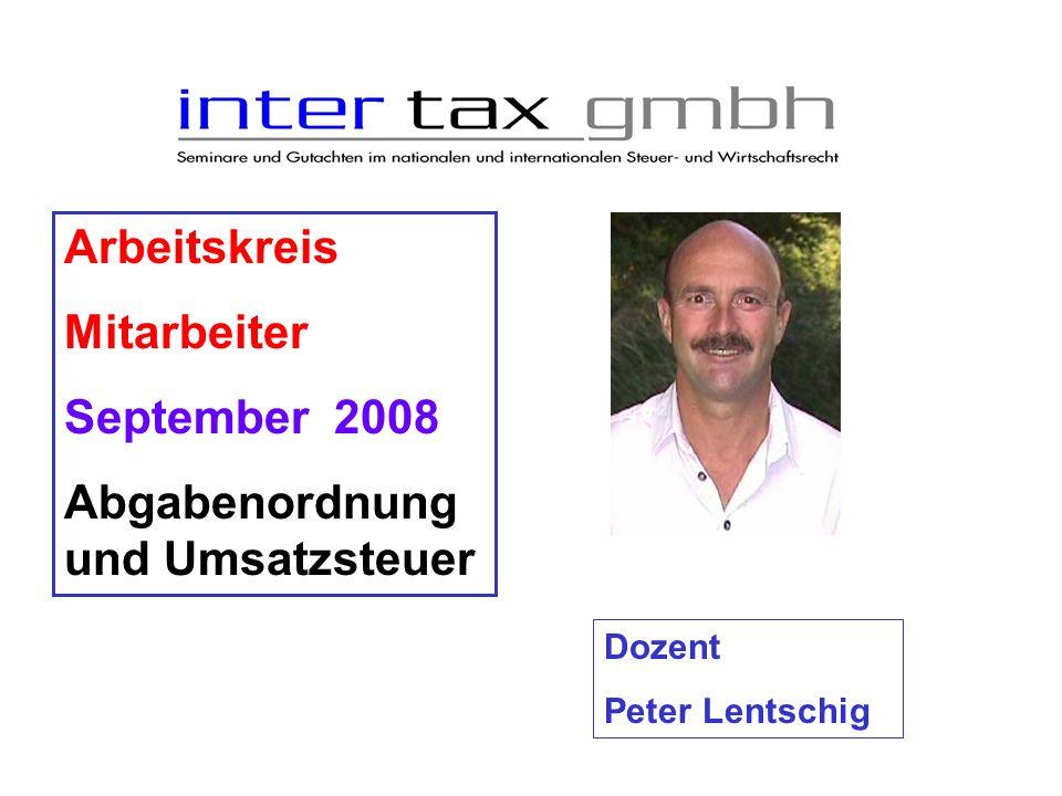 Abgabenordnung und Umsatzsteuer
