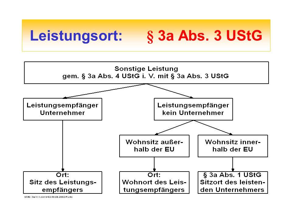 Leistungsort: § 3a Abs. 3 UStG