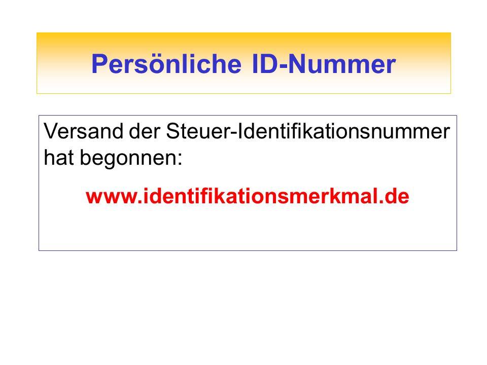 Persönliche ID-Nummer