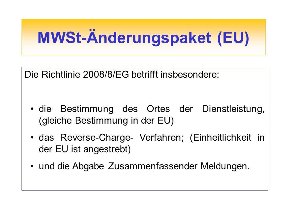 MWSt-Änderungspaket (EU)