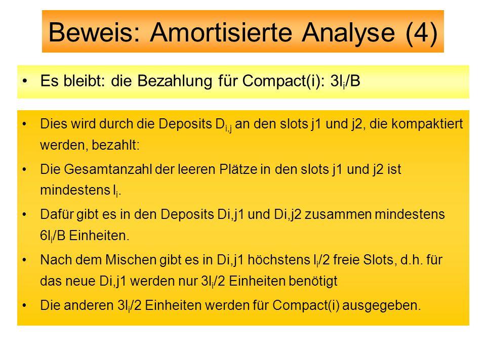Beweis: Amortisierte Analyse (4)