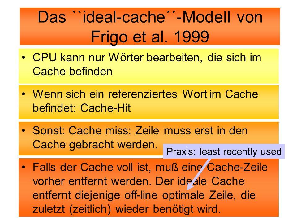 Das ``ideal-cache´´-Modell von Frigo et al. 1999