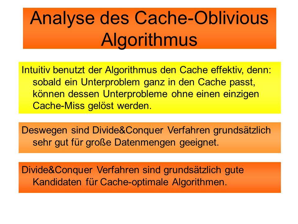 Analyse des Cache-Oblivious Algorithmus
