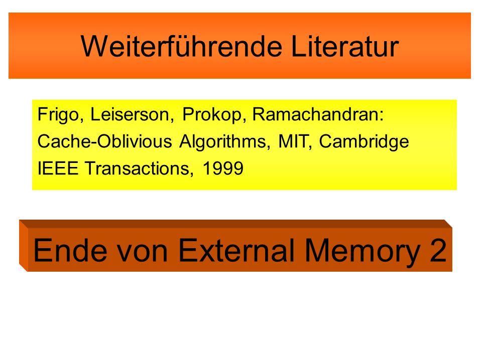 Ende von External Memory 2
