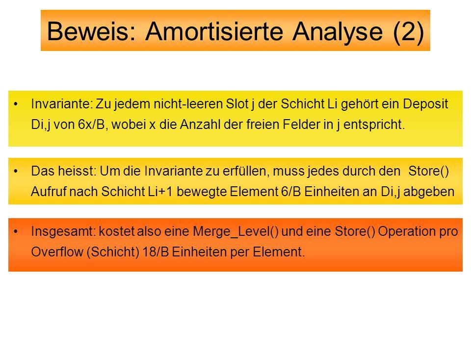 Beweis: Amortisierte Analyse (2)