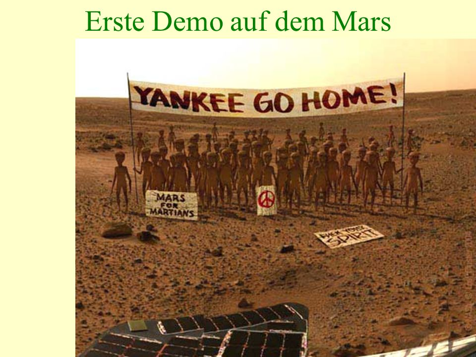 Erste Demo auf dem Mars