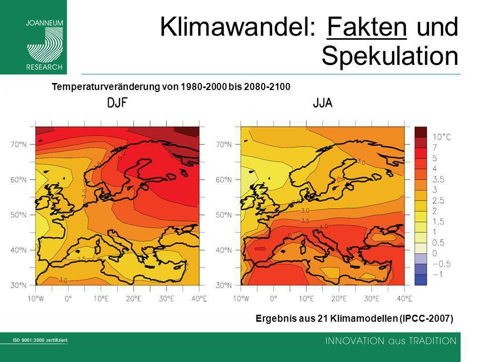 Klimawandel: Fakten und Spekulation