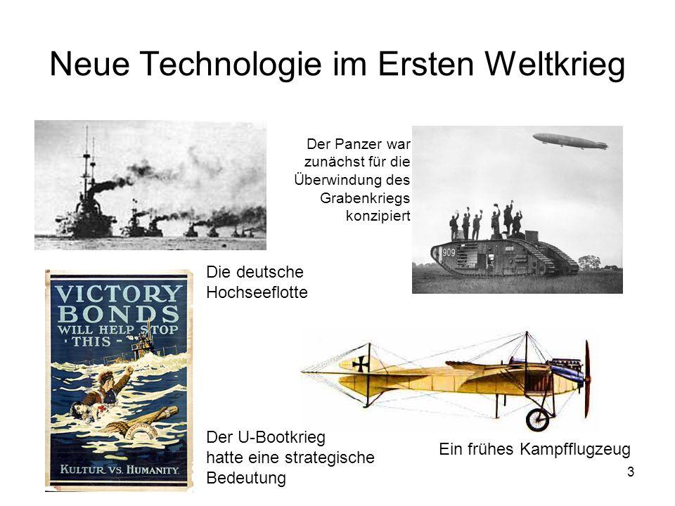 Neue Technologie im Ersten Weltkrieg