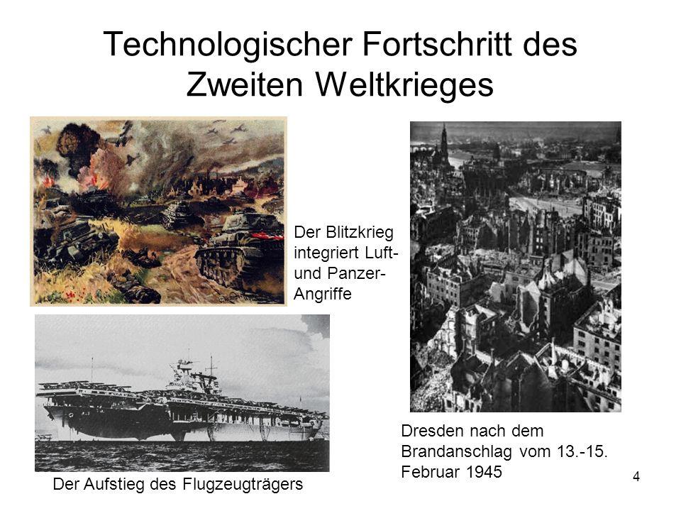 Technologischer Fortschritt des Zweiten Weltkrieges