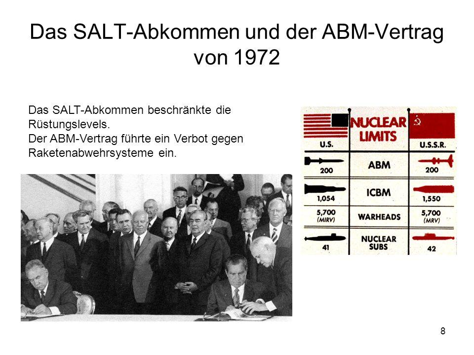 Das SALT-Abkommen und der ABM-Vertrag von 1972