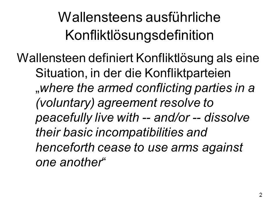 Wallensteens ausführliche Konfliktlösungsdefinition