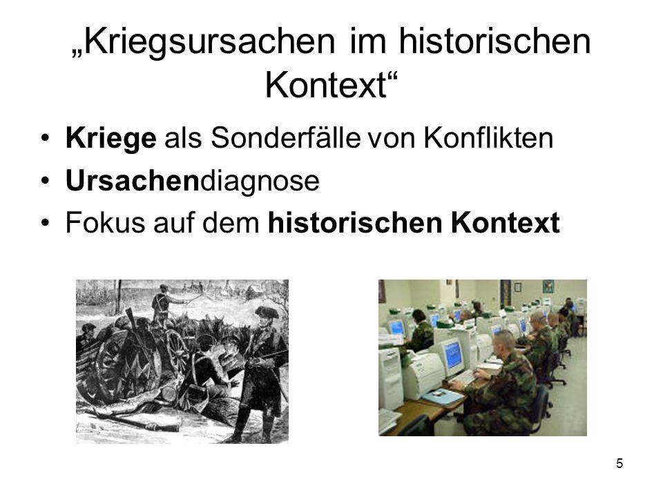 """""""Kriegsursachen im historischen Kontext"""
