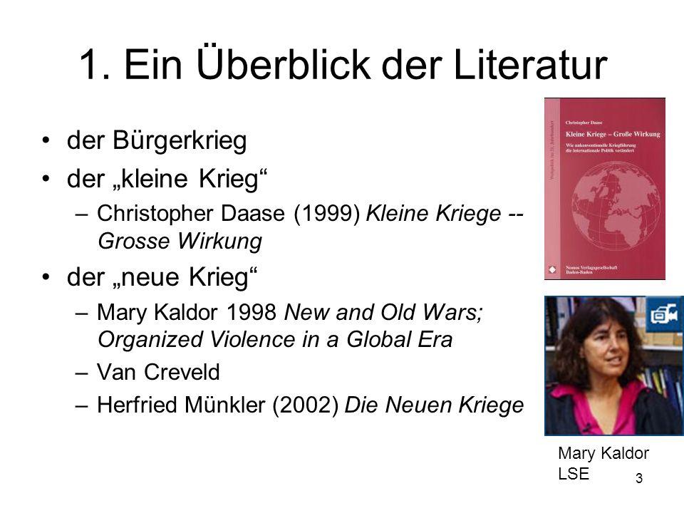 1. Ein Überblick der Literatur