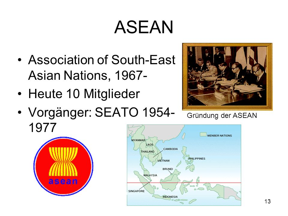 ASEAN Association of South-East Asian Nations, 1967-