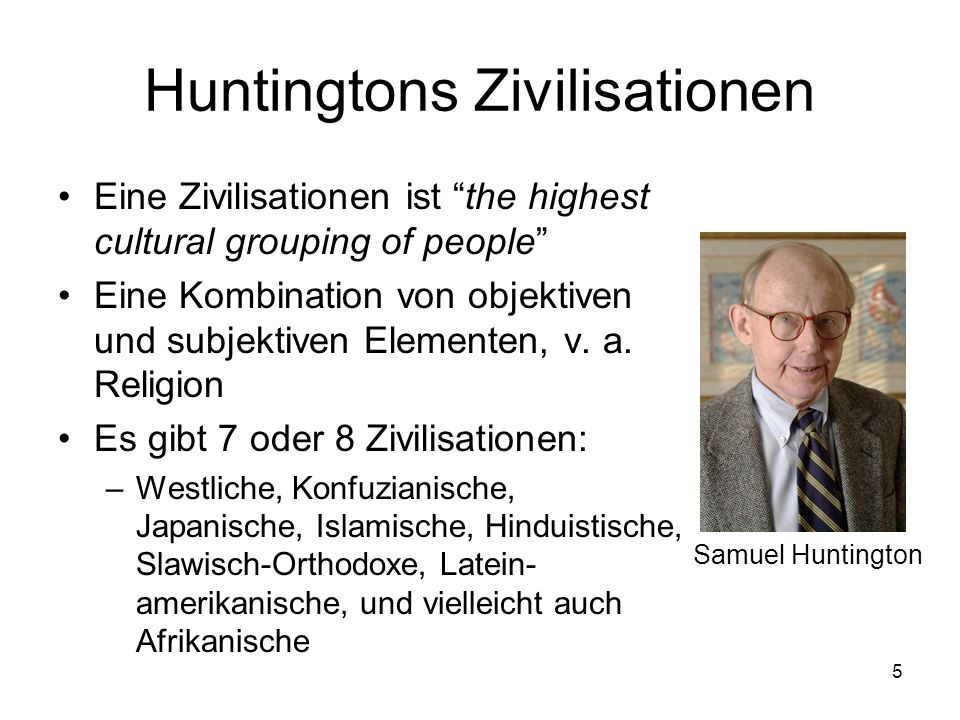 Huntingtons Zivilisationen