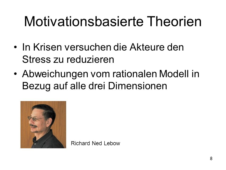 Motivationsbasierte Theorien