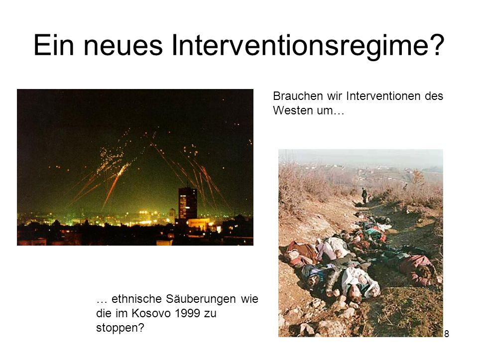 Ein neues Interventionsregime