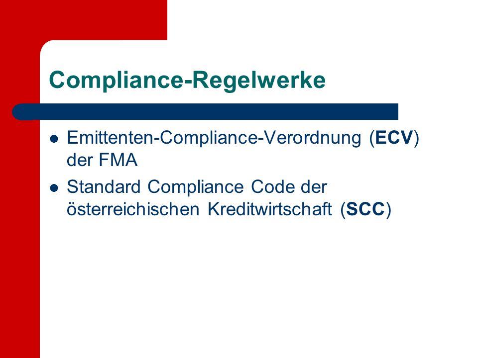 Compliance-Regelwerke