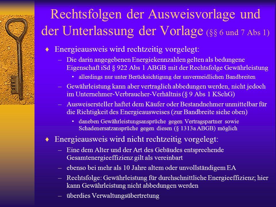 Rechtsfolgen der Ausweisvorlage und der Unterlassung der Vorlage (§§ 6 und 7 Abs 1)