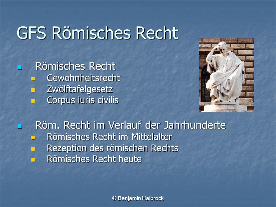 GFS Römisches Recht Römisches Recht