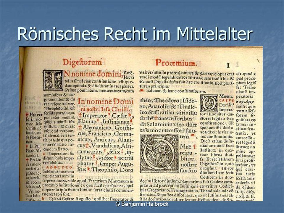 Römisches Recht im Mittelalter
