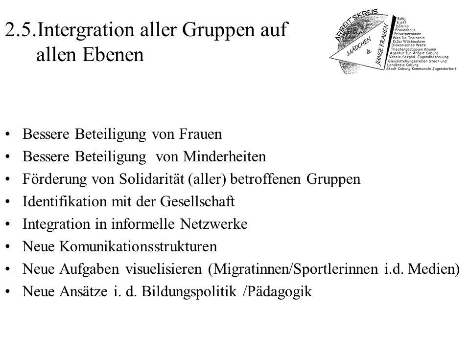 2.5.Intergration aller Gruppen auf allen Ebenen