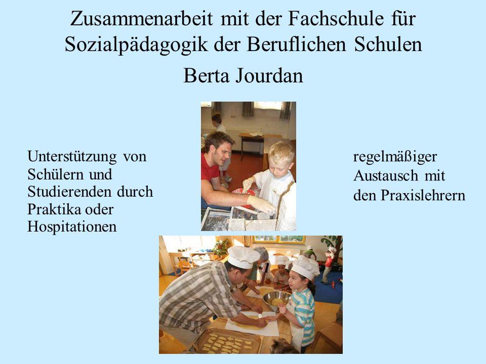 Zusammenarbeit mit der Fachschule für Sozialpädagogik der Beruflichen Schulen Berta Jourdan